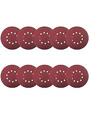 TACKLIFE Sanding Abrasive Discs, 10Pcs 9-Inch/225mm 120grit Sanding Discs Sandpaper for Drywall Sander and polisher 1 set - ASD5A