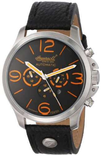 Ingersoll Men's IN1503GYOR Totem Analog Display Automatic Self Wind Black Watch