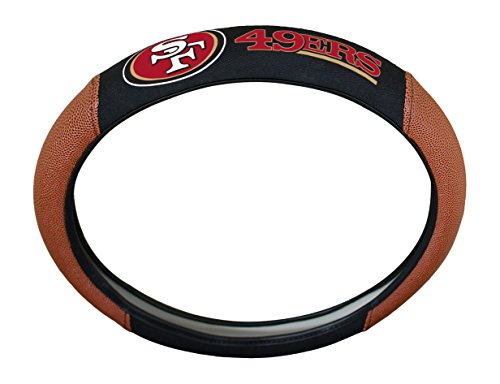 NFL San Francisco 49ers Rubber Steering Wheel Cover, 15