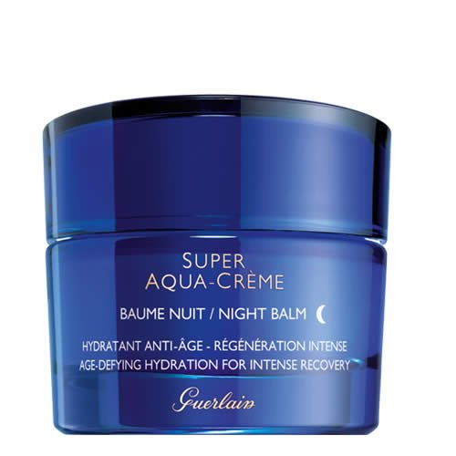 Guerlain Super Aqua Creme Age-Defying Hydration Night Cream for Intense Recovery, 1.6 Ounce -