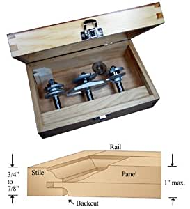 cabinet door router bits 3 pc cabinetmaker s ogee combo router bit set with 12823