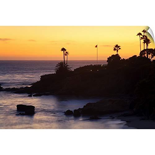 CANVAS ON DEMAND Laguna Beach seen from Heisler Park at Sunset Wall Peel Art Print, 18