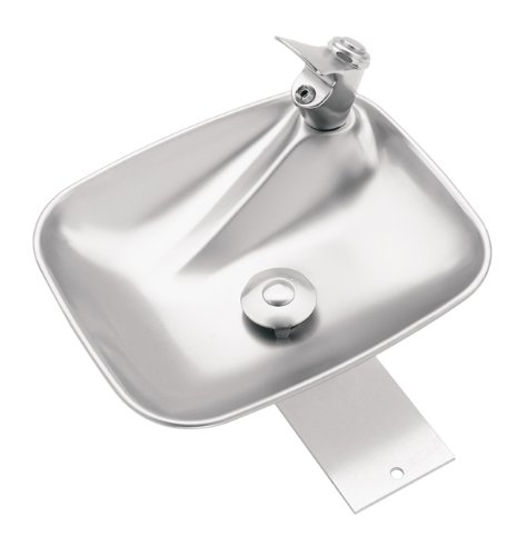 Haws 4010 Deck Mounted Single Bubbler Drinking Fountain with Stainless Steel Bowl by Haws