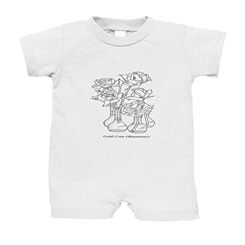 Color Your Gold Coin Color-In Design Cotton Infant Baby Jersey Tee T-Romper White 6 Months