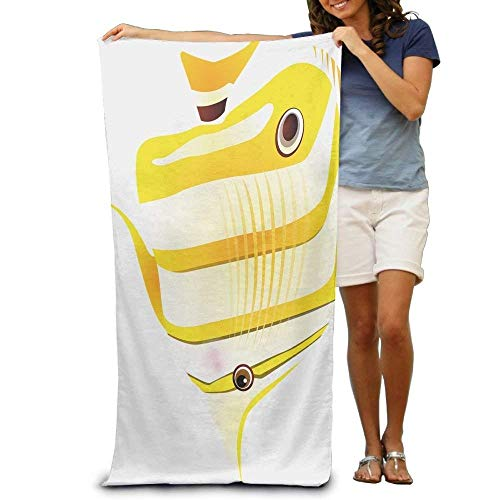 BAGT Luxury Polyester Beach Towels Promotional Tropical Fish Large Beach Towel Pool Towel,Swim Towels for Bathroom,Gym,and Pool 31 in X51 ()