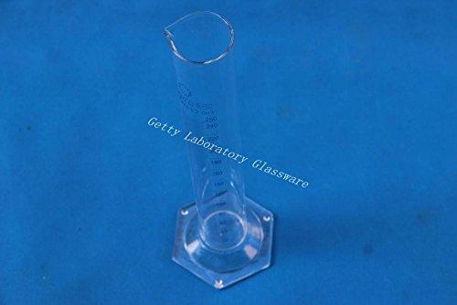 250 ml cristal medició n cilindro, cristal de borosilicato 3.3 material cristal de borosilicato 3.3material Beijing Getty Laboratory Glassware Co.