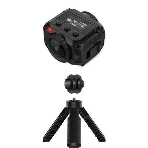 Garmin Virb 360 - Rugged, Waterproof 360-degree Camera and Garmin 010-12521-02 VIRB(R) 360 Tripod/Handgrip (Motorcycle Gps Garmin Waterproof)
