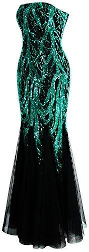 Grün Net Ast Baum Arm Kleid Angel Pailletten Kleid Schwarz fashions Damen Ohne Meerjungfrau qPAfPS