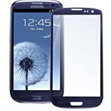 Original Samsung Galaxy S3 SIII Pebble Blue Front Glass Replacement - D&R electronix