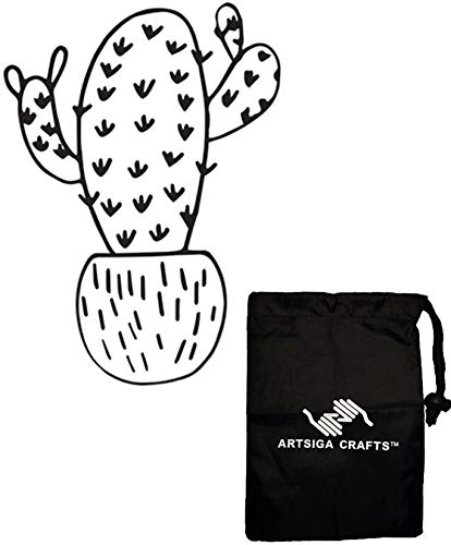 (Darice DIY Crafts Supplies Embossing Folders for Card Making Si x Arm Cactus 4.25 x 5.75 inches 30041333 Bundle with 1 Artsiga Crafts Small Bag)