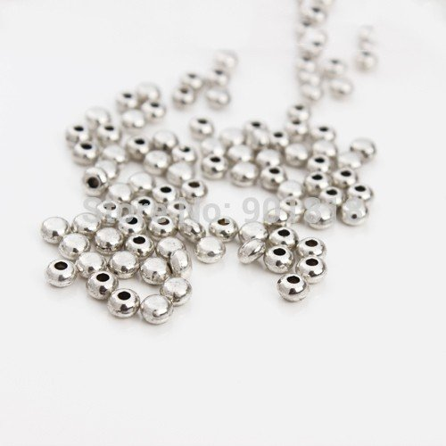 Antique Silver Round Leather Cord End Caps 200pcs//lot Hole 1.5mm Beads Caps Jewelry Making Fittings DIY Material