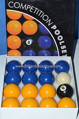 Homegames Pool Table Balls BLUE & YELLOW Pub UK 2