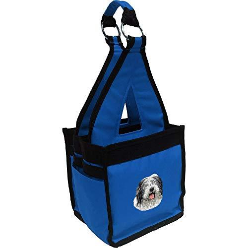 - Cherrybrook Breed Embroidered Blue Fig Ringside Tack Bag - Blue - Old English Sheepdog