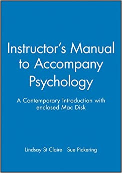 Instructor's Manual to Accompany Psychology: A Contemporary Introduction with enclosed Mac Disk