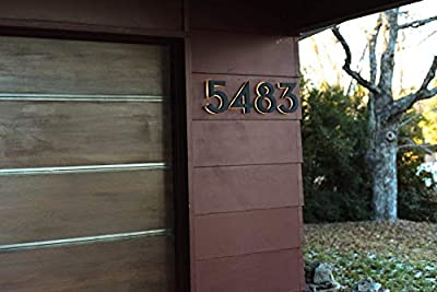 Black 4 Inch Backlit LED House Numbers | Big, Modern Address Signs for Homes | Soft, Exterior Glow | Coated Stainless-Steel Black Finish | Weather Resistant, Durable, Wired | by JELSCO