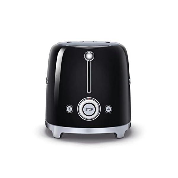 Smeg TSF01BLUS 50's Retro Style Aesthetic 2 Slice Toaster, Black 3