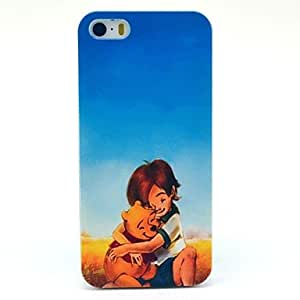 GJY Boy and Bear Cartoon Pattern Hard Case for iPhone 5/5S