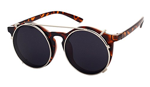 cc09d1a5de Fashion Small Retro Steampunk Circle Flip Up Glasses   Sunglasses - UV400 -  Buy Online in Oman.