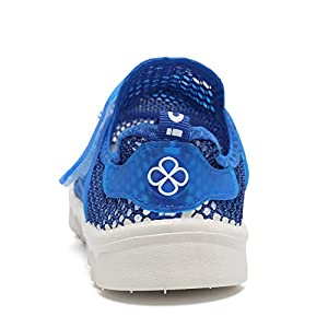 EQUICK Kid's Breathable Mesh Shoes Slip-on Sneakers For Running Pool Beach (Toddler/Little Kid) EKS276 Blue 26