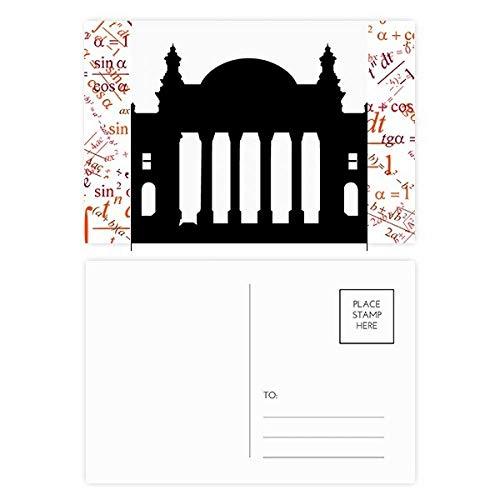 Germany Berlin Reichstag Landmark Formula Postcard Set Thanks Card Mailing Side 20pcs