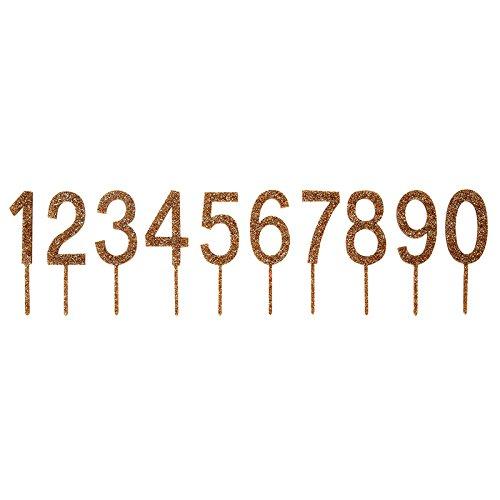 Meri Meri Acrylic Number Cake Toppers, 2 Sets of Numbers 0-9 (Number Cake Toppers)