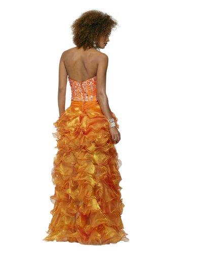 Clarisse Sans Bretelles Ébouriffé Haut Bas Robe De Bal 2130 D'orange