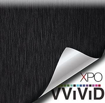 1ft x 5ft Black Brushed Metal Vinyl Wrap Roll with VViViD XPO Air Release Technology
