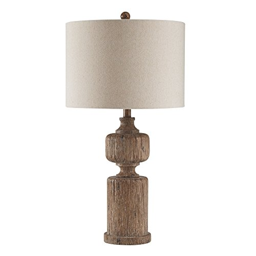 Ashley Furniture Signature Design - Madelief Poly Table Lamp - Faux Wood - ()