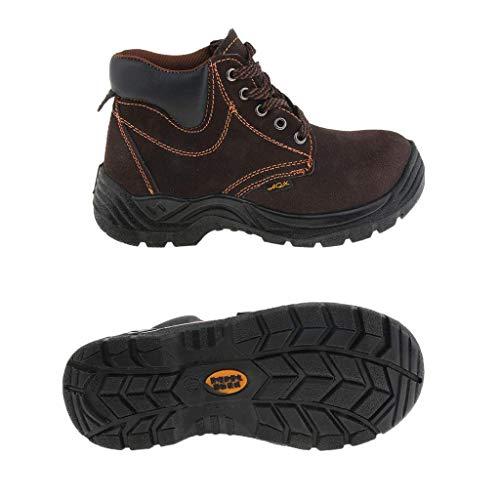 nouler juler Botas de Trabajo de Seguridad con Punta de Acero y Cuero Zapatos antiperforantes y abrasivos, 260 mm