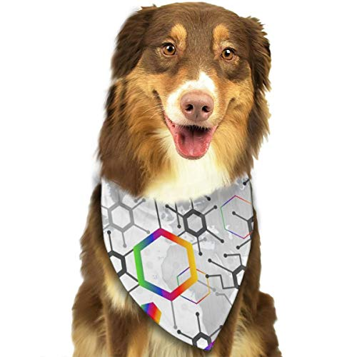 Pet Scarf Dog Bandana Bibs Triangle Head Scarfs Geometry Accessories for Cats Baby Puppy ()
