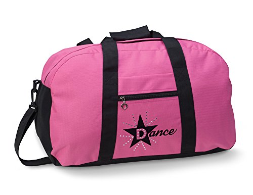 [Dansbagz By Danshuz Women's Star Dance Duffel Bag, Pink, OS] (Dancing With The Stars Costumes Designs)