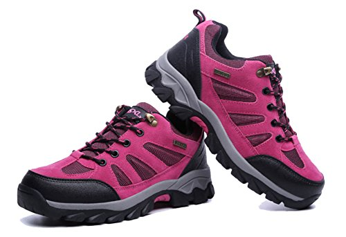 Men's Outdoor Hiking Shoes Anti-skid Footwear Multi-color Multi-size RoseRed MmMWVaPxw