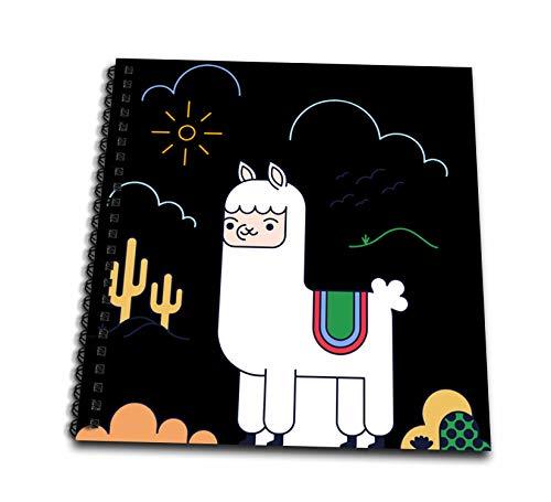 (3dRose Sven Herkenrath Animal - Lama Alpaca from Peru Graphic Style in The Nature - Memory Book 12 x 12 inch (db_294240_2))