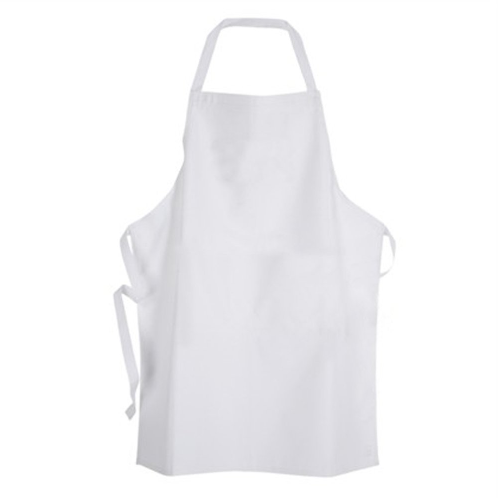 White Fabric Kids'chef Apron To Decorate With Marker