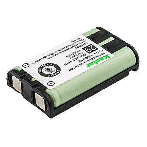 Kastar HHR-P104 Cordless Phone Battery, Ni-MH, 3.6 Volt, 1000mAh Ultra Hi-Capacity, Replacement for Panasonic HHR-P104 HHR-P104A and Sony MDR-RR800/900 Series Rechargeable Battery