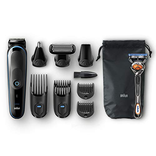 Braun 9-in-1 All-In-One Trimmer MGK5080 Beard Trimmer & Hair Clipper, Body Groomer, Ear & Nose Hair Trimmer, Detail Trimmer...