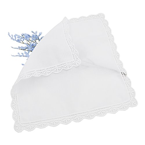 Milesky Bridal Wedding Crochet Lace Handkerchief Premium 60S Cotton CH05