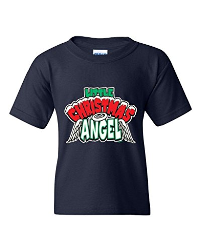 Xekia Kids Costume Little Christmas Angel Fashion People Santa Best Friend Gifts Unisex Youth Kids T-Shirt Tee Youth X-Large Navy Blue -