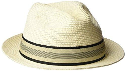 Tommy Bahama Men's Braid Fedora Hat, Ivory, Large/Extra Large