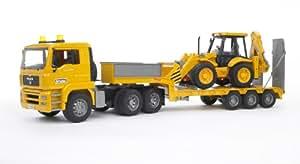 Camión Góndola MAN + Excavadora JCB
