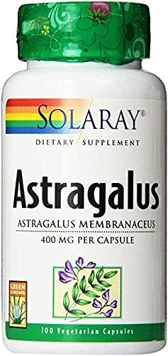 Solaray Astragalus Capsules, 400 mg, 100 Count 2 Pack