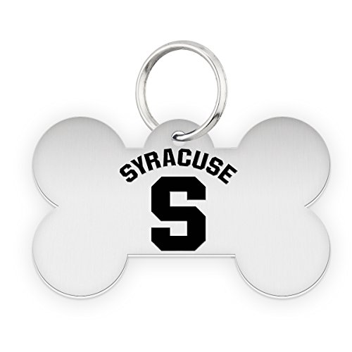 Syracuse University Orange Dog Tag | Pet Tag | Dog Collar | Necklace | College Pet Tags by College Jewelry