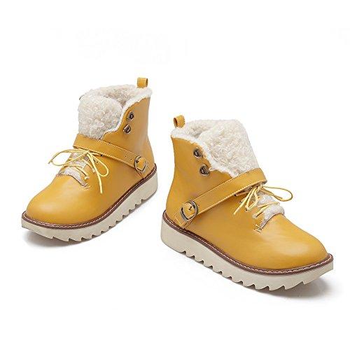 1TO9 - Botas de nieve mujer amarillo