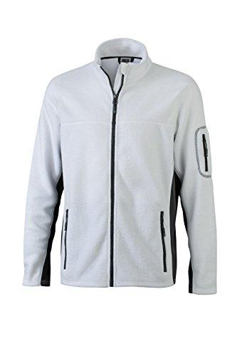Workwear White Materiale carbon Giacca Pile Men's Jacket Uomo In Misto Fleece Resistente q00IPwv
