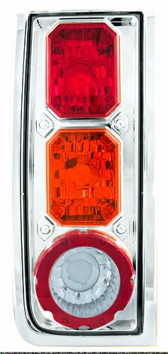 IPCW CWT-CE343CA Crystal Eyes Crystal Red/Amber/Clear Tail Lamp - Pair