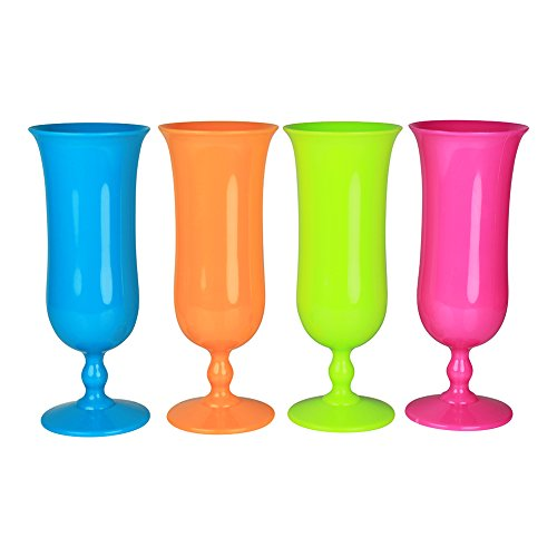 Set Plastic Hurricane Glass Tumbler