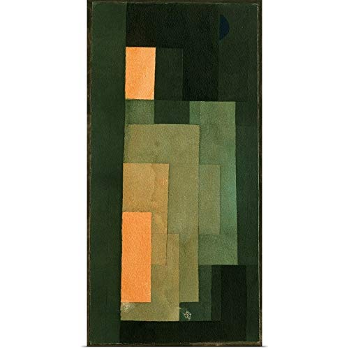 Great Big Canvas Poster Print Entitled Tower in Orange and Green by Paul Klee 18