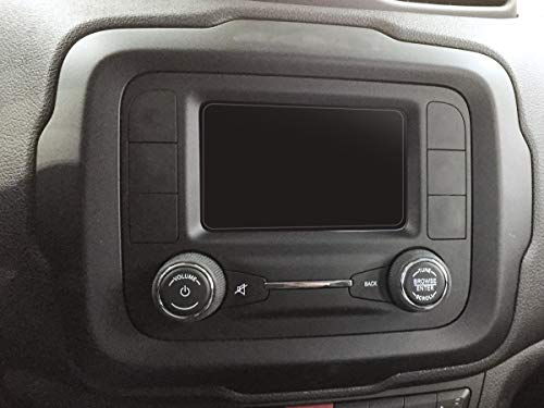 Red Hound Auto 2015-2018 Compatible with Jeep Renegade UConnect Screen Savers 2pc Custom Fit Invisible High Clarity Touch Display Protector Minimizes Fingerprinting 5 Inch by Red Hound Auto (Image #2)