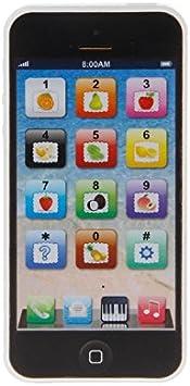 Aawsome 1 unidad de teléfono móvil para niños, música para estudio, juguete educativo para regalo 12 * 5.5CM negro