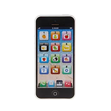 Misciu Baby Kid Child Educational Learning Mobile Phone Toy Musical Playing Kit Y-Phone White